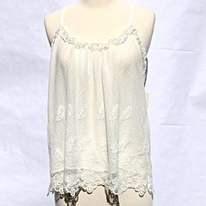Flora Romantic Embroidered Butterfly Lace Camisole